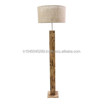 Handcrafted Wood Floor Lamp Rectangular Minimal Handmade Wooden From Natural Solid Hard