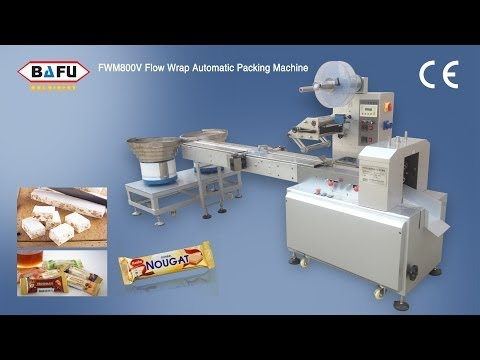 nougat packing machine, automatic nougat packing machine, confectionery bar packing machine