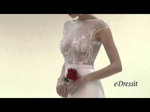 eDressit Sexy Cap Sleeves Embroidery Wedding Dress Prom Dress  01151607