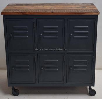 Industrial Vintage Metal Locker Cabinet