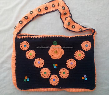 Crochet Shoulder Bags Side Tablet Jewelry Colllege University Bag Multicolo