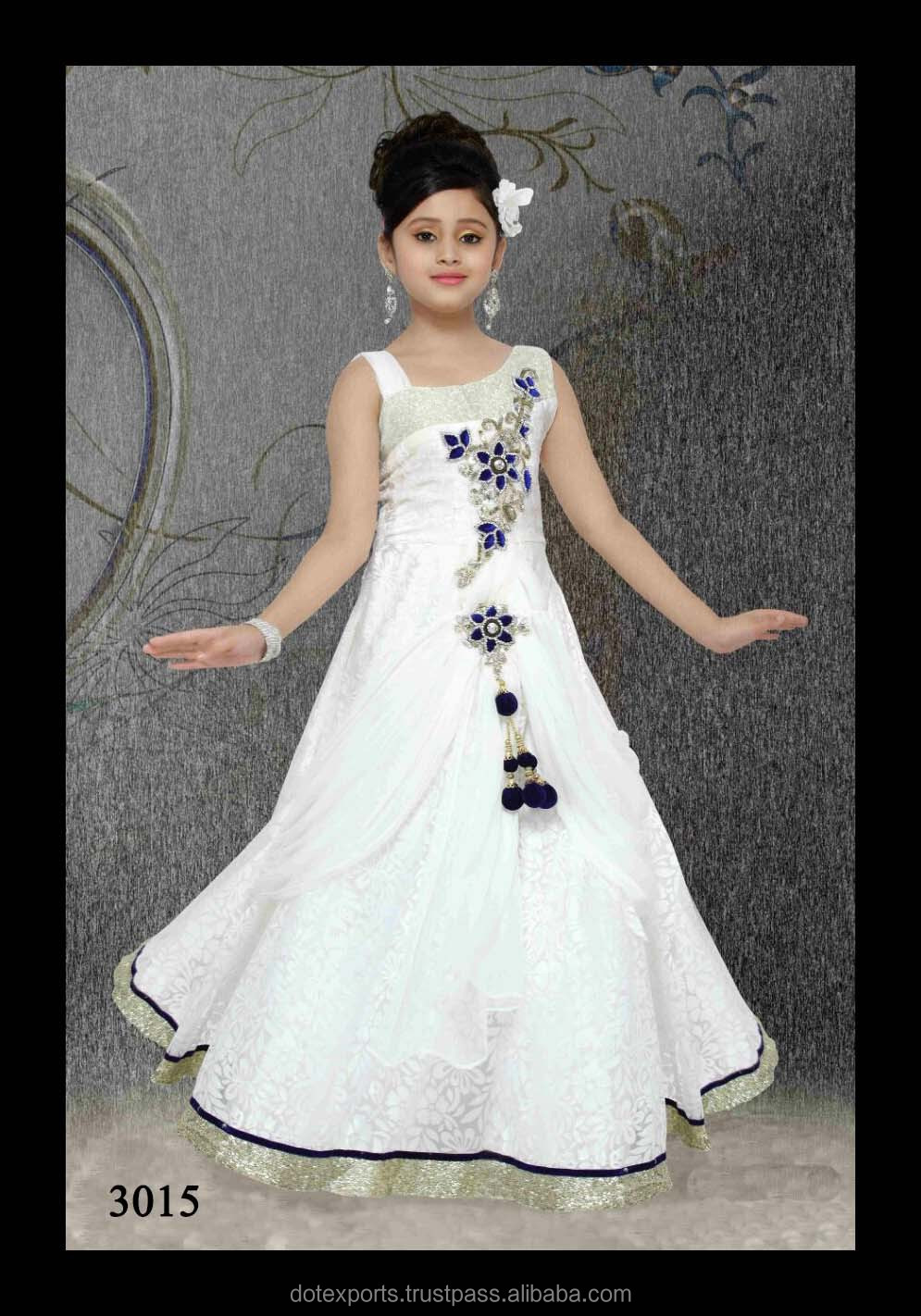 df0160b3cfe00c Evening Gown frock Designs For Kids In White Colour - Buy Kids ...