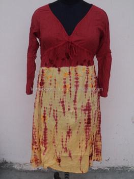 Best Red Color Latest Neck Design Pattern Cotton Ladies Wear