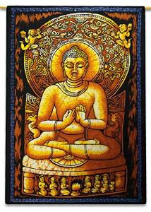 Buddha Tapestry Wall Hangings indian lord buddha designer printed tapestry, indian lord buddha