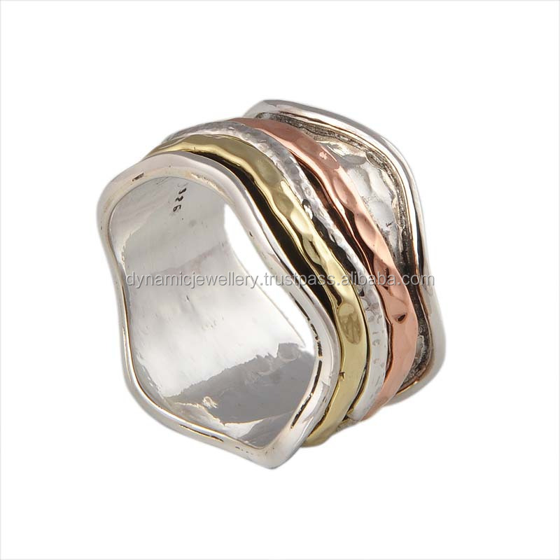 925 sterling silver spinner ring jewelry wholesale ring