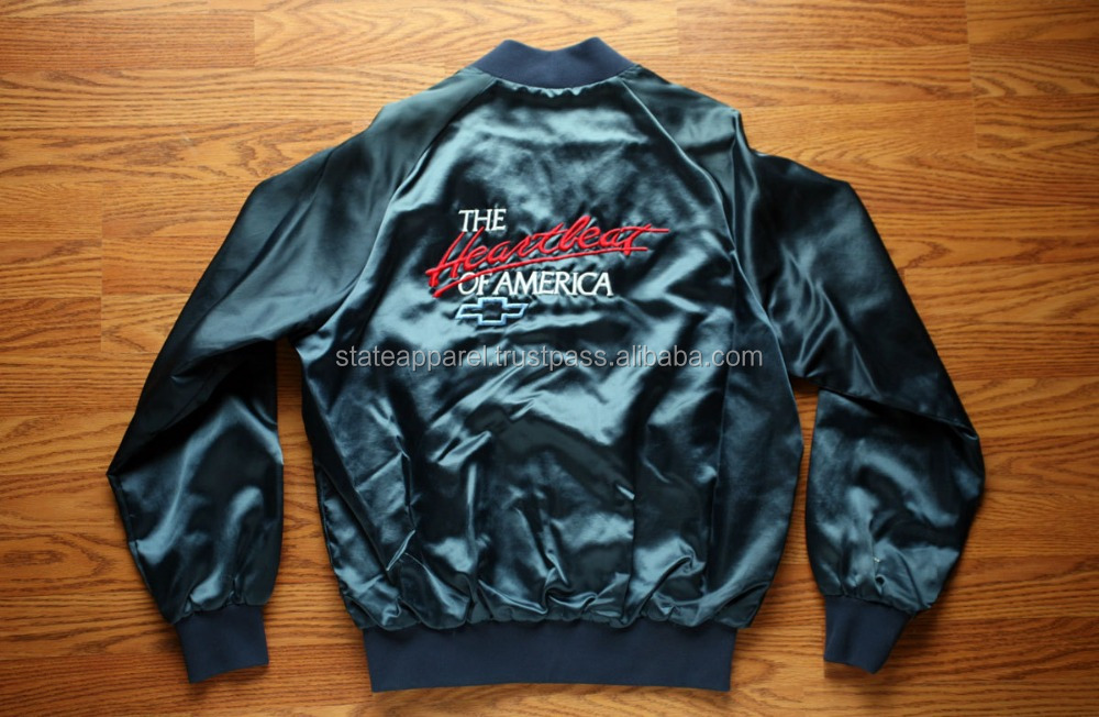 Men Drive Bomber Satin Varsity Jacket,Custom Man Drive Baseball ...