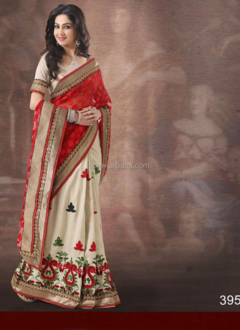 Indian Designer Bollywood Fashion Saree Sari Wedding