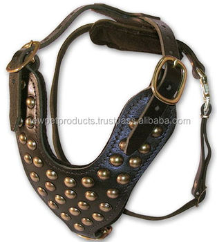 Luxury Design Leather Dog Harness