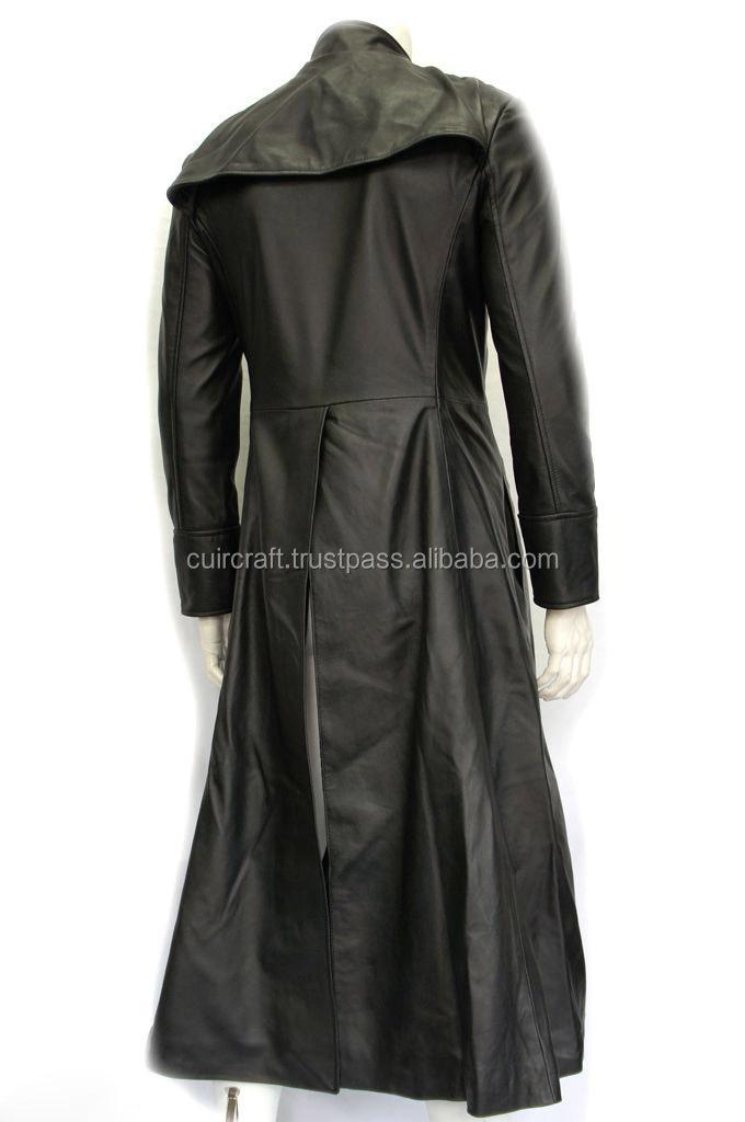 8c6ecf51b517 Homme Noir Film Matrix Neo Réel Trench-coat En Cuir Veste - Buy ...