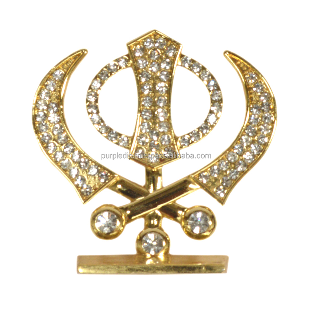 Sikh Religious Symbol Khanda Showpiece Statue For Car Dashboard