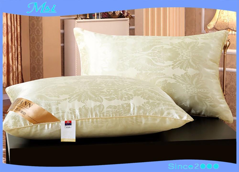 Wholesale OEM Hotel Sateen pillows Silk pillow interiors protecting your cervical vertebra