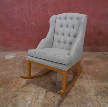Tufted Rocking Chair Retro Furniture Style.