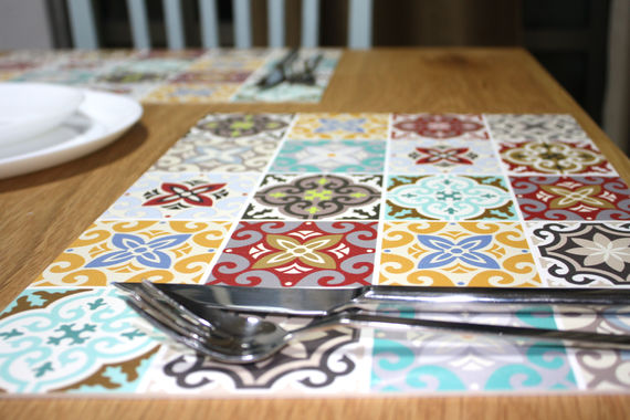 Pvc vinyl placemat 30x40 cm open keuken placemat voor keuken ...
