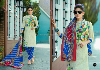 Pure Cotton Glamour Readymade Printed Suits/frock Suits For Women ...