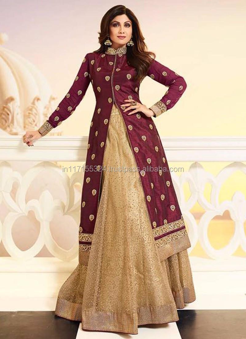 ccd3de594916c Exclusive latest designer shilpa shetty style Maroon anarkali dress - Online  wholesale clothing - Latest anarkali designer suits