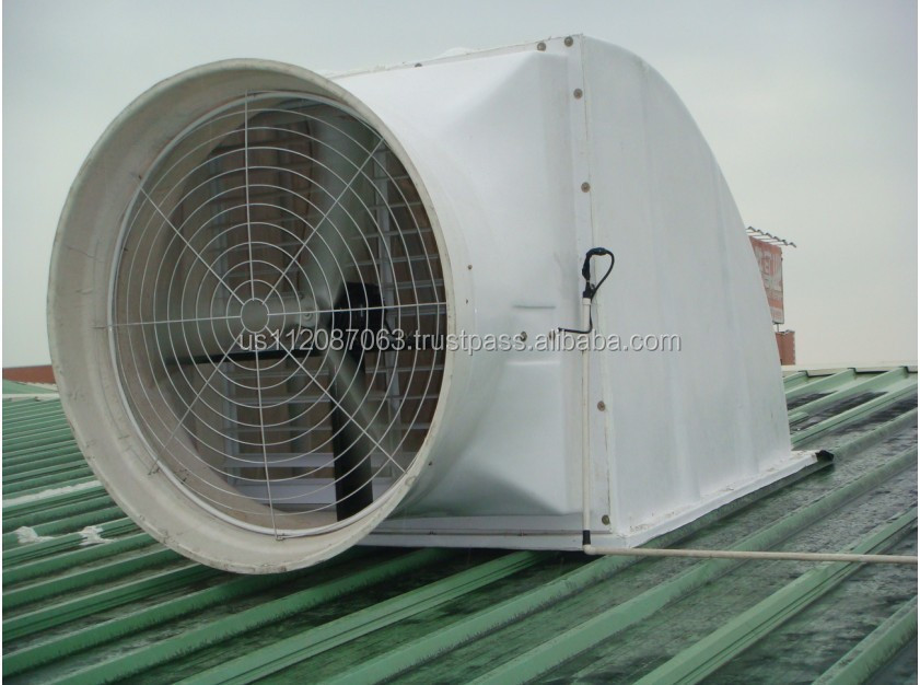 Large Industrial Exhaust Fans : Automatic shutter wall mounted industrial exhaust fan