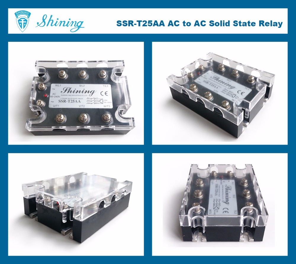 SSR-T25AA SSR General Purpose AC 24V 240V 3-Phase Solid State Relay