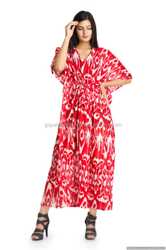 d537be6fdd Beach CoverUp Kaftan Boho Hippy New Indian Plus Size Women Dress Caftan  Cotton Summer Maxi Dress