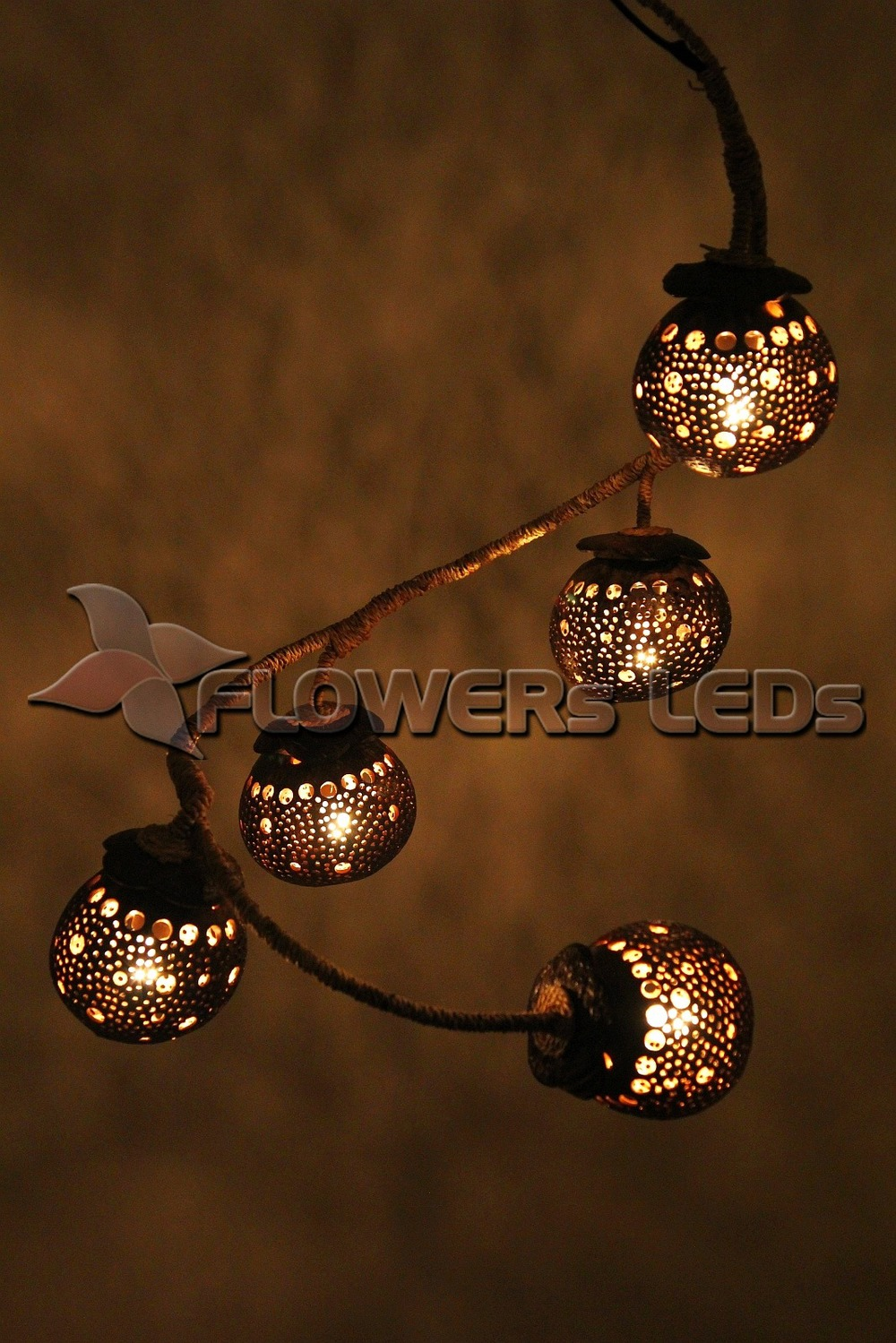 Coconut Shell Lamp Lighting Night Lights Lamps For Home