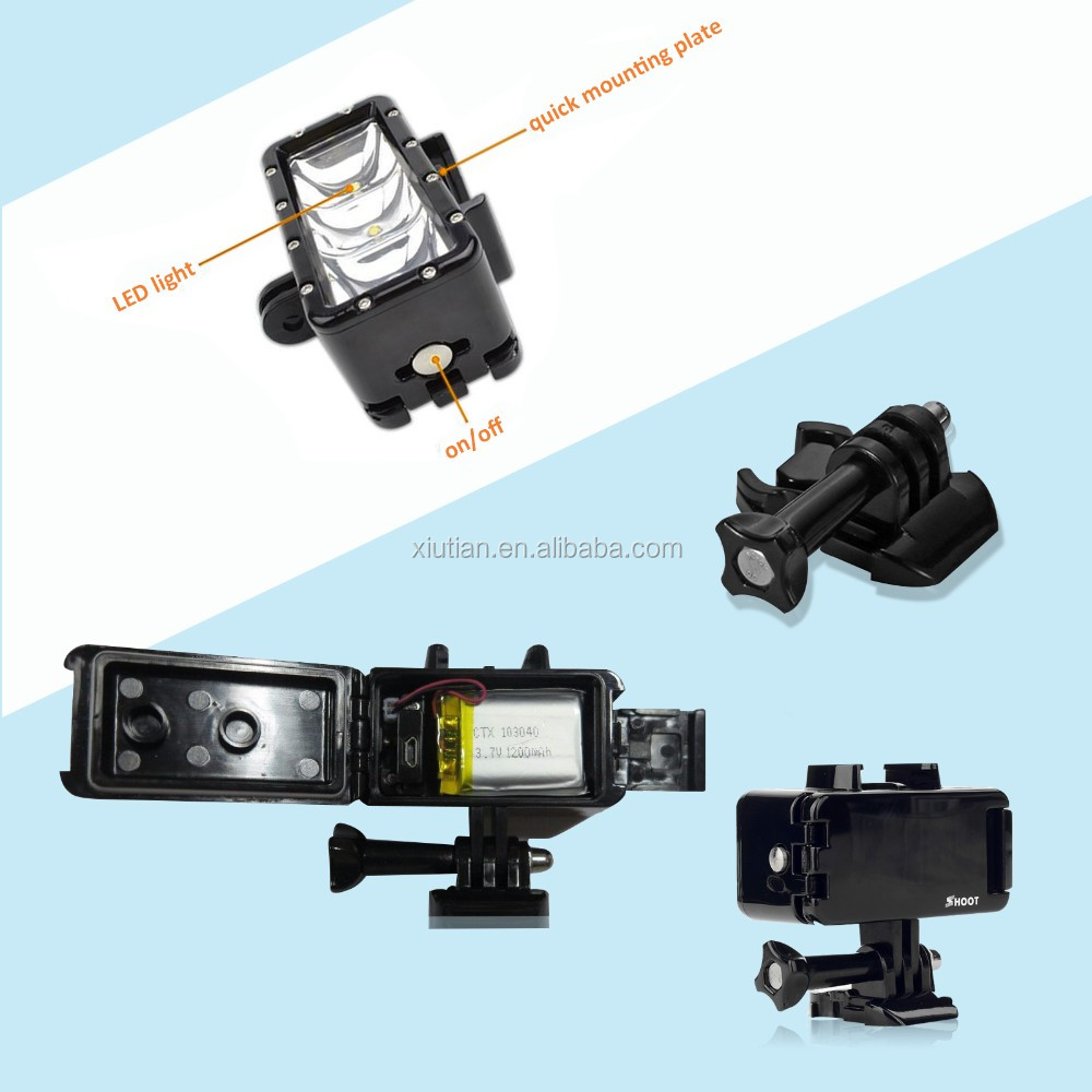 for GoPros Hero 7 6 5 Hero7 Hero6 5 Session Action Sports Camera Underwater Waterproof Led Light