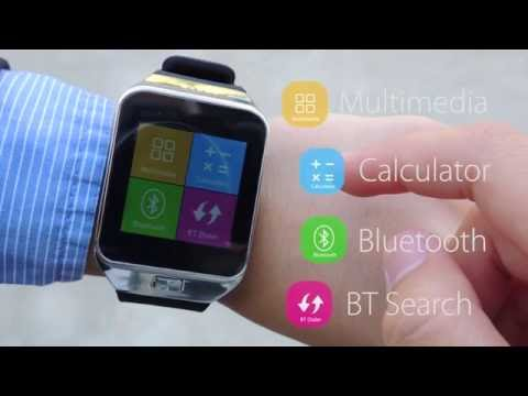 CNPGD All-in-1 Watch Cell Phone & Smart Watch Sync to Android IOS Smart Phone Silver)