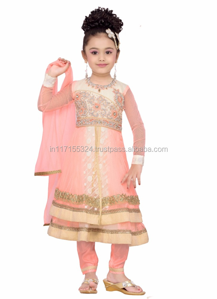 Fashion Kids Party Wear Girl Dress - Indian Ethnic Wear For Girls ...