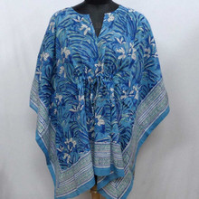 Indian blok <span class=keywords><strong>gedrukt</strong></span> soft cotton voile gratis size string <span class=keywords><strong>kaftan</strong></span>