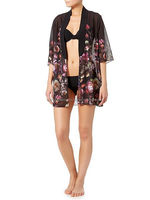 Floral Cover Up Beach Wear