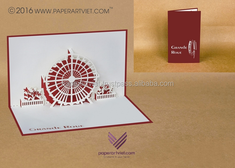 3d pop up card grande roue/ park card