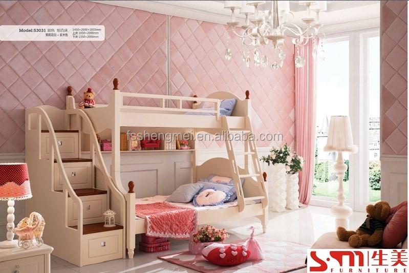 Massief hout slaapkamer set meisjes jongens tiener kinderen kids slaapkamer meubels moderne - Slaapkamer tiener meisje foto ...