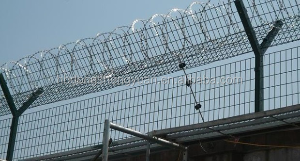 Contemporary Prison Fence Wire Razor Barbed Mesh For Boundary Wall Throughout Decor