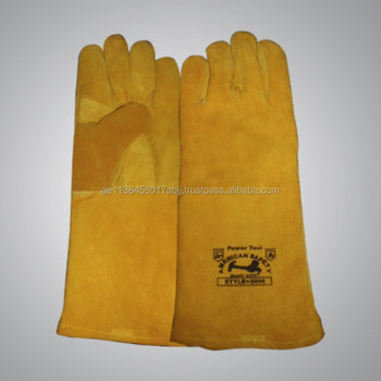 Cow Split leather Welding Gloves Heavy Duty Safety Gloves Industrial Use CE and EN approved