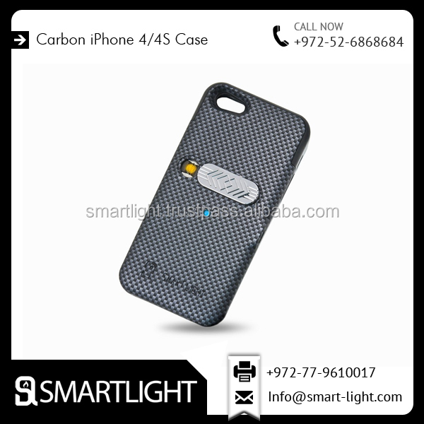 Carbon Colour Attractive Design Cigarette Cover Case Lighter for IPhone 4/4s