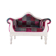 Indian Vintage Velvet Solid Wood Single Sofa Wholesale Home Furniture Manufacturer Single Sofa