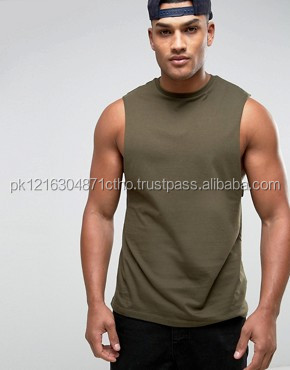 Customized men cotton stretch vest body building stringer singlet gym wear for men by Hawk Eye Co.