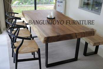 Malaysian Wood Dining Table Set Bali Room