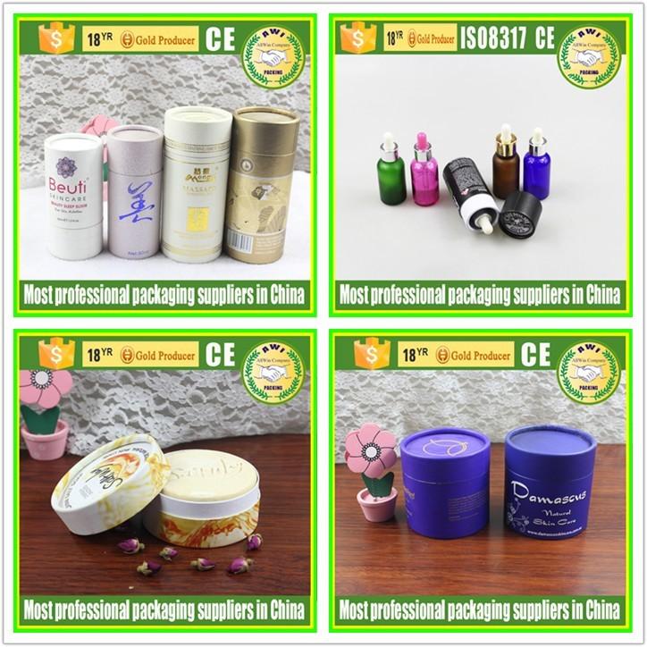 Igh Quality Plastic Lid Cardboard Bottom Paper Tube Food Grade ...