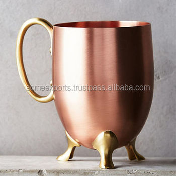 High quality 100% Solid Pure Copper Moscow Mule Mug Direct & Largest manufacturer of copper mugs