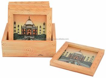 Jaipur Rajasthan Kuber Wooden Handicraft Gem Stone Art Taj Mahal