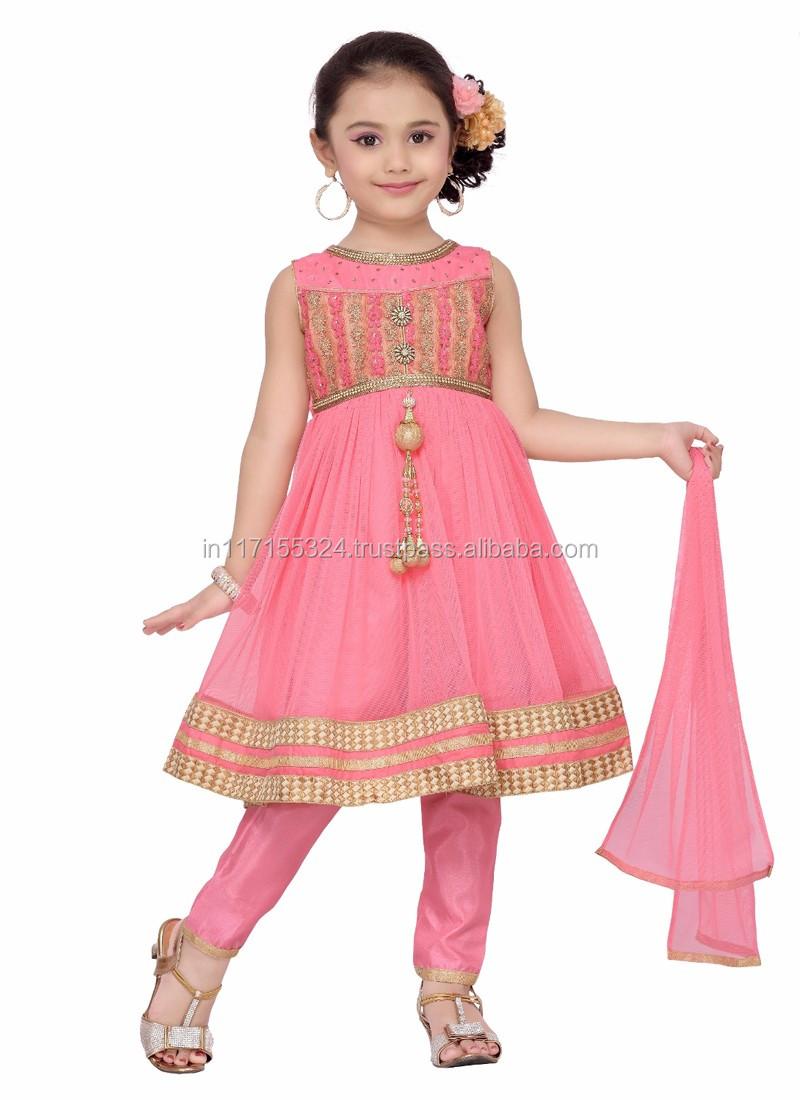 Western Girls Party Wear Dresses Elegant Baby Girls Net Party Dress ...