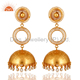 Indian Traditional Gold Plated Silver Cz Jhumka Earrings Jewelry Manufacturer & Wholesaler