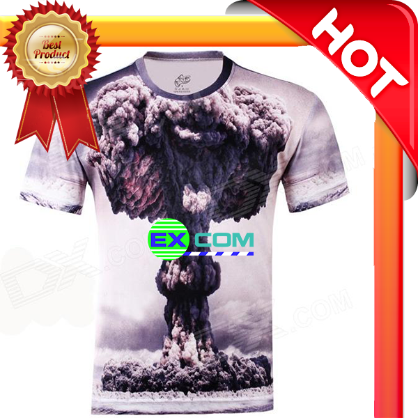 Custom made t-shirt high quality 3d animal