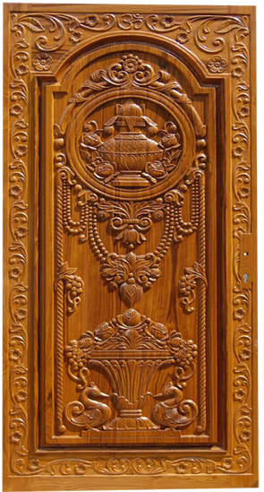 Wood door carvings images galleries for Traditional main door design