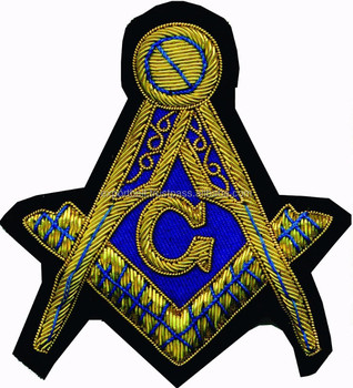 Masonic Badge Patch Hand Embroidery Lodge Badges