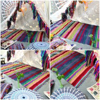 wholesale hand loomed rag rug area rugs bedroom throw outdoor rug decor