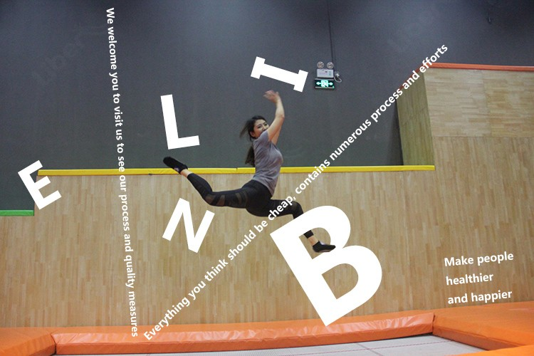 570 square meter Indoor trampoline park with Ninja Course