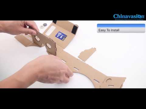 Review DIY 3D Google Cardboard Glasses Mobile Phone Virtual Reality 3D Glasses iPhone Android Phones