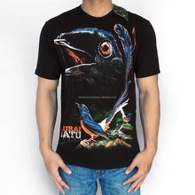 Bawara Premium T-Shirt 100% Soft Cotton | Bird Themes | Indonesian Medan Magpie Stone - Black