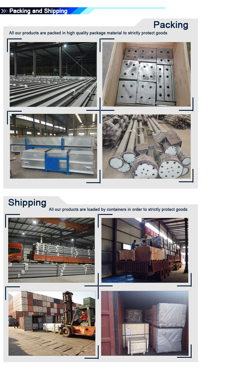 Customized lightweight steel warehouse for factory