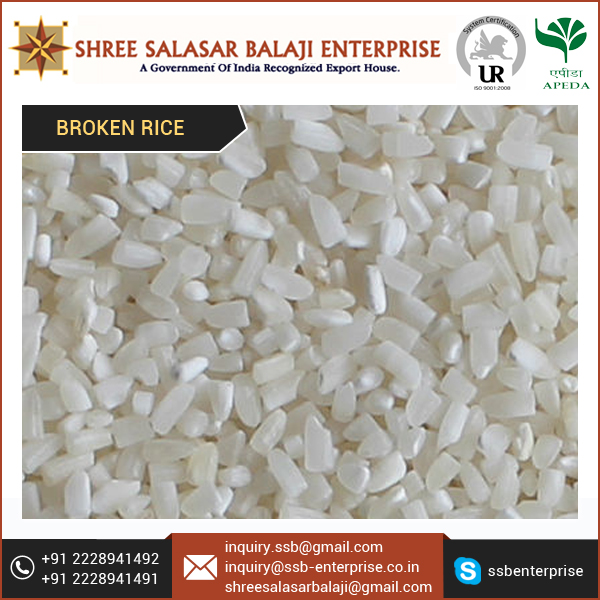 Long Grain 100%Broken Rice with Superior Quality at Best Price